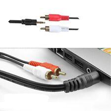 Computer Mp3 Mini 3.5mm Mobile To Player RCA Cable Audio Line Plug Stereo