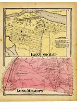 1870 map of Long Meadow & Indian Orchard, Mass. from Atlas of Hampden County