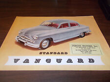 1950s Standard Vanguard Color Sales Brochure