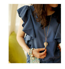 Colorful Enamel Glazed Hot Air Balloon Silk Bowknot Pendant Long Chain Necklace