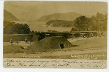 Gateway of the Hudson Highlands from West Point RPPC Antique FM Case Photo 1910s