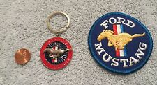 30th ANNIVERSARY SET - 1994 - 1995 FORD MUSTANG DEALER KEYCHAIN & PATCH ORIGINAL