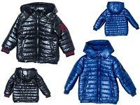 Boys Coat Kids Baby Jacket Winter Quilted Puffa Hooded BNWT MINOTI Navy Blue