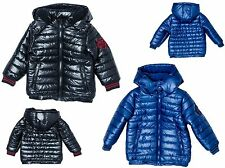 Boys Coat Kids Baby Jacket Winter Quilted Puffa Hooded BNWT MINOTI Navy Blue
