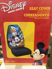 New 2 pc Set - Mickey Mouse & Friends Car Auto Front Seat Covers Plasticolor