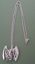 Pewter pendant, dragon design, made in Cornwall, 17.5 surgical steel chain