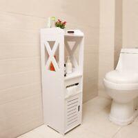 Bathroom Storage Shelf Toilet Vanity Storage Cabinet Bath Sink Cleaner Holder US