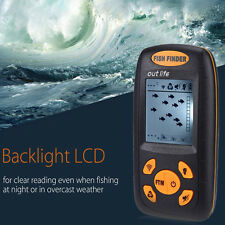 Wireless Fish Finder Portable Depth Sonar Echo Sounder with LCD Backlight Alarm