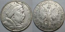 More details for 10 zlotych 1933 sobieski silver poland ii republic
