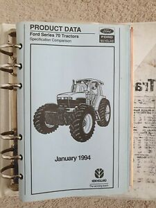 NEW HOLLAND & FIAT TRACTOR COMBINE & BALER PRODUCT DATA BOOKS