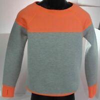 Athleta Fuse Sweatshirt, Women's Size XS – Gray Cosmic Orange - Thumb Holes $96
