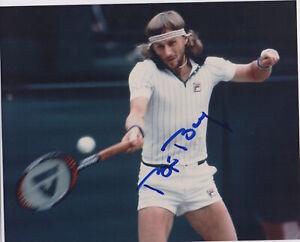 BJORN BORG signed 8x10 photo AUTOGRAPH auto JSA certed Wimbledon TENNIS HOF