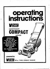 victa lightweight operting instruction     repoduction