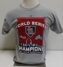 St. Louis Cardinals 2011 World Series Champions Grey T-Shirt   Adult Large