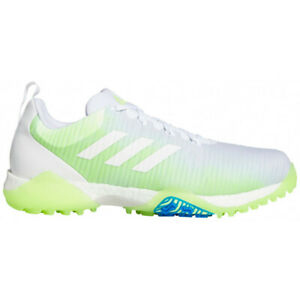 NEW Adidas Mens 2020 CODECHAOS Golf Shoes White/Green/Blue - Choose Your Sz