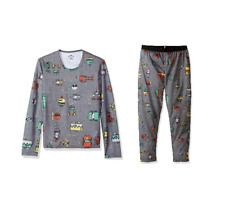 Hot Chillys Youth Pepper Skins Bottom and Top Set Large Bots-Charcoal