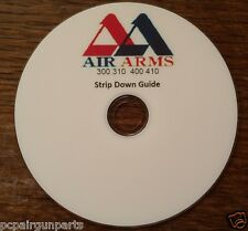 AIR ARMS 300/310 400/410 STRIP DOWN GUIDE FULLY PRINTED DVD+FREE TARGETS