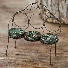 Miniature Dollhouse FAIRY GARDEN ~ Bottle Cap Bench ~ NEW