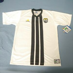 NEW VINTAGE 90's COLUMBUS CREW ADIDAS MLS SOCCER JERSEY SHIRT L RARE made in US
