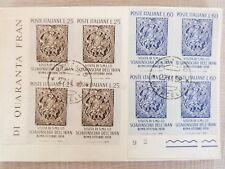 1958 cartolina con serie visita scia' iran quartina bordo  primo giorno lusso