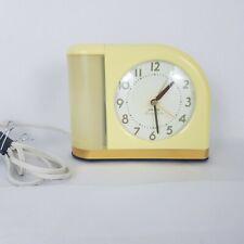 Vintage Mcm Art Deco Yellow Big Ben Moon Beam Alarm Clock MidCentury Blinking Lt
