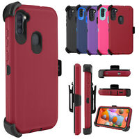 For Samsung Galaxy A11 Case Stand Belt Clip Holster Shockproof  Protective Cover
