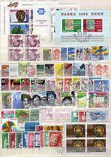 Svizzera - Lotto di 67 francobolli + 3 foglietti - Usati