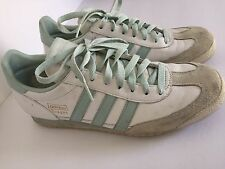 Women's Adidas Dragon Gym Shoes White And Light Blue Size 8.5