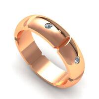 0.15 Ct Natural Diamond Men's Engagement Ring Solid 18K Rose Gold Band Size T U