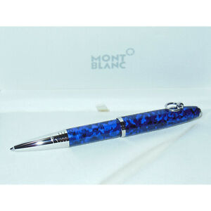 New Montblanc Muses Elizabeth Taylor Special Edition Ballpoint Pen 125523 Blue
