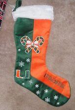 "NEW NCAA Miami Fla Hurricanes Holiday Christmas Stocking 24"" NEW NWT"