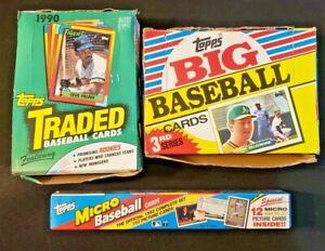 1988 Topps Big Baseball, 1990 Topps Traded, 1992 Topps Micro Factory Sealed Box!