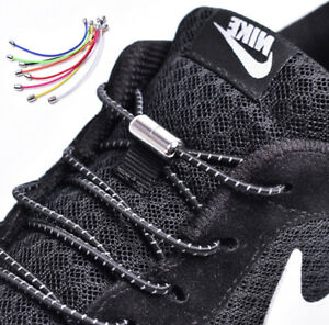 (40 Farben) Elastische Schnürsenkel elastisch rund Schnellverschluss Schuhbänder