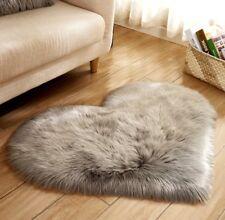 Heart Faux Fur Area Rug