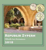 Zypern 1 Cent bis 2 Euro 2018 KMS Sondersatz im Folder