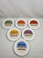 "Pottery Barn Dessert Plates Chocolate Delespaul-Havez 8"" Set of 6"