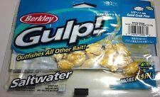 """Berkley Gulp Saltwater 1/2"""" Sand Crab Flea - White Glow"""