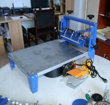 16 X 20 Micro Adjust Screen Printing Machine With Vacuum Pallet Silk Press