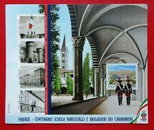 Italia 2020 Foglietto Centenario Scuola Marescialli e Brigadieri dei Carabinieri