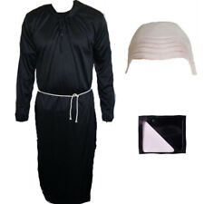 MENS SCARY UNCLE FANCY DRESS COSTUME BALD CAP & PAINT HALLOWEEN HORROR OUTFIT.