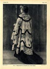 Pelzmode zur Kaiserzeit Theatermantel aus Hermellin mit irischer Gipüre...1906