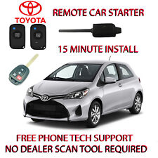 2015 2016 TOYOTA YARIS REMOTE START-NO WIRE SPLICING-REGULAR KEY ONLY