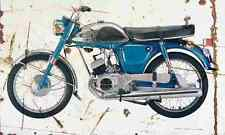 Yamaha YL1 1968 Aged Vintage Photo Print A4 Retro poster