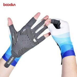 Boodun Outdoor Fishing Gloves Men MTB Road Bicycle Half Finger Gloves Women