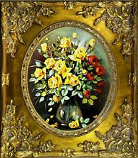 /'restaurando piante Fiori Immagine Immagini QUADRI Ölbilder QUADRO OLIO CON CORNICE g06338