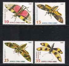 INSECTS OF CYPRUS BUTTERFLIES SET OF 4V 1997 VERY FINE MNH