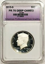 2015-S Silver Kennedy Half Dollar PR70 APCG Proof 70 Deep Cameo 70