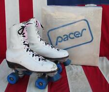 Vintage Pacer Womens White Leather Roller Skates Great shape! Sz.10 w/ Orig. Box