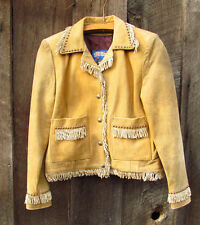 Leather Jacket TRIBE AMERICA  Womens XS Western Wear Made in USA