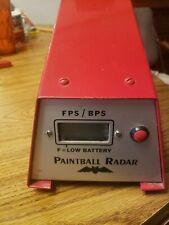 Big Red Paintball Radar Chrono Station - Fps Field Chronograph!